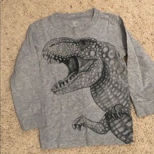 Long sleeve tee for kids. Dinosaur in front